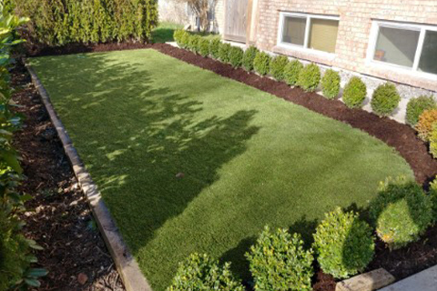 artificial grass installation surfacing the project Ace Turf